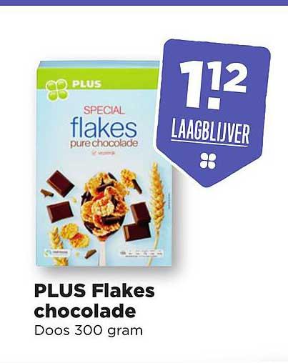 PLUS Plus Flakes Chocolade