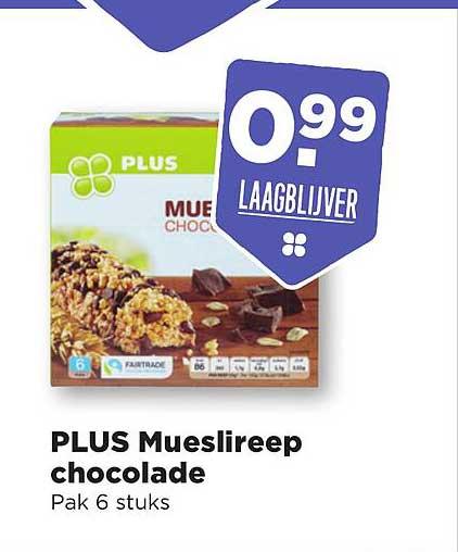 PLUS Plus Mueslireep Chocolade