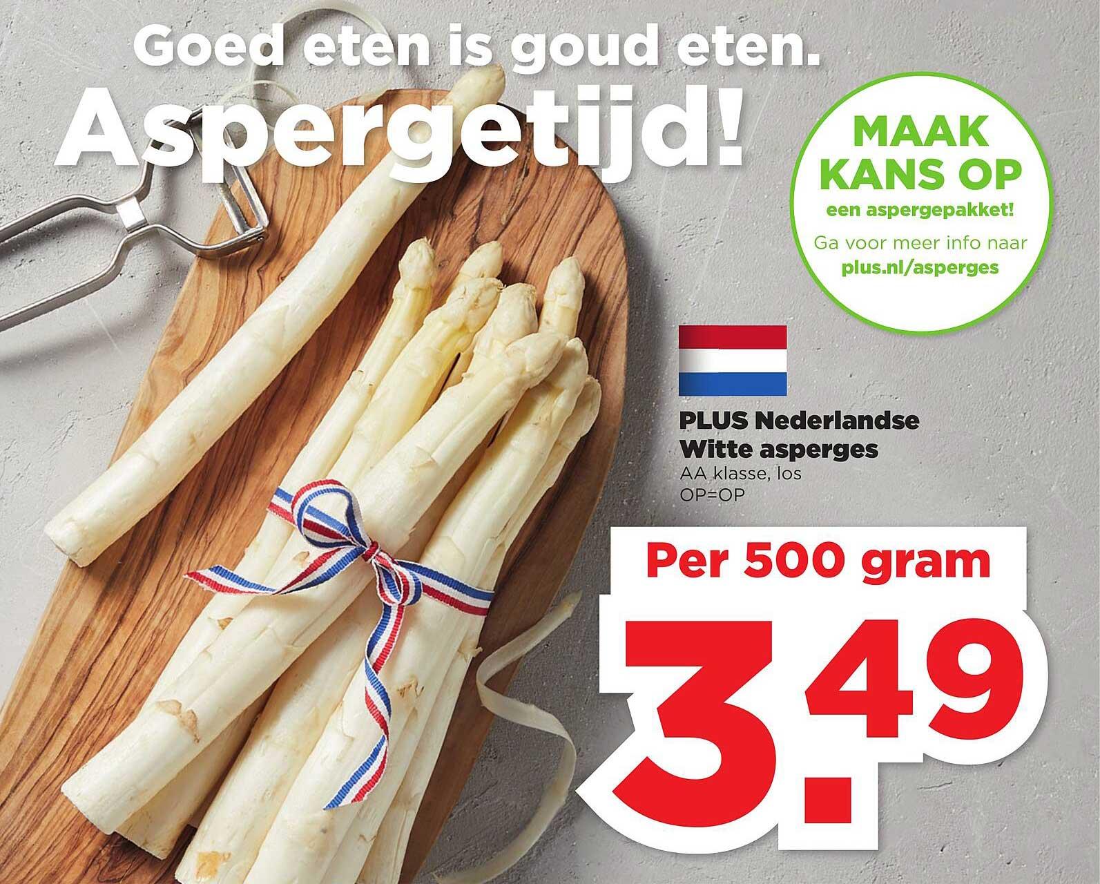 PLUS Plus Nederlandse Witte Asperges