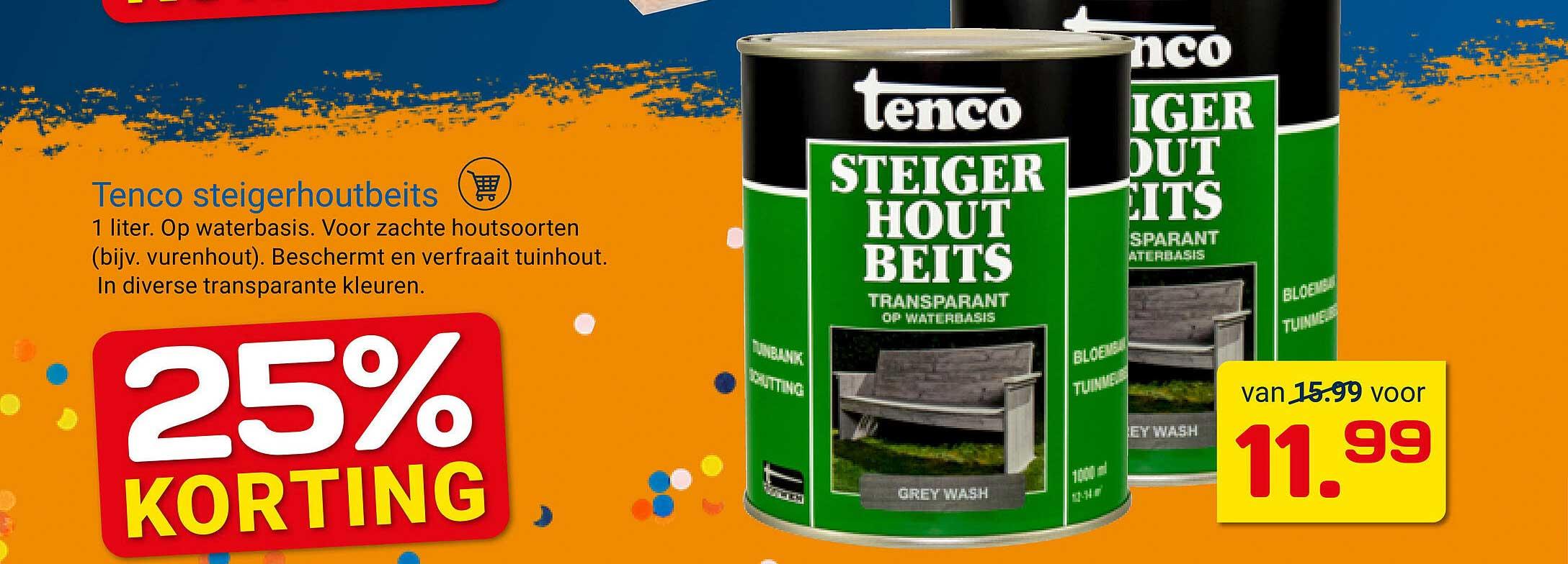 KlusWijs Tenco Steigerhoutbeits 25% Korting