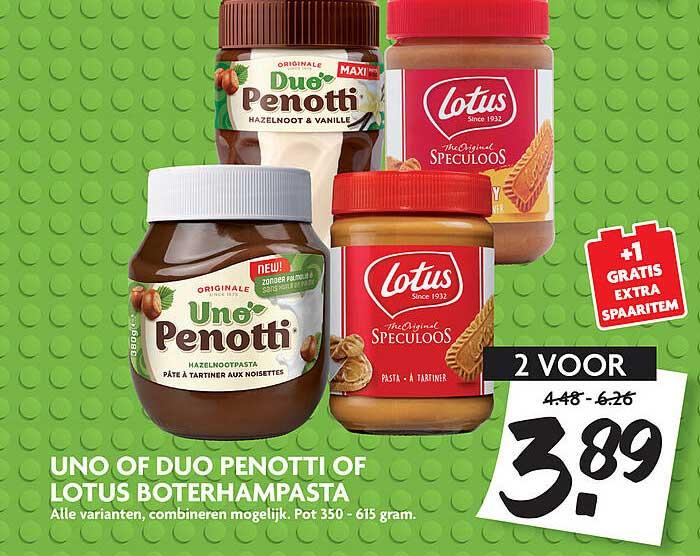 DekaMarkt Uno Of Duo Penotti Of Lotus Boterhampasta