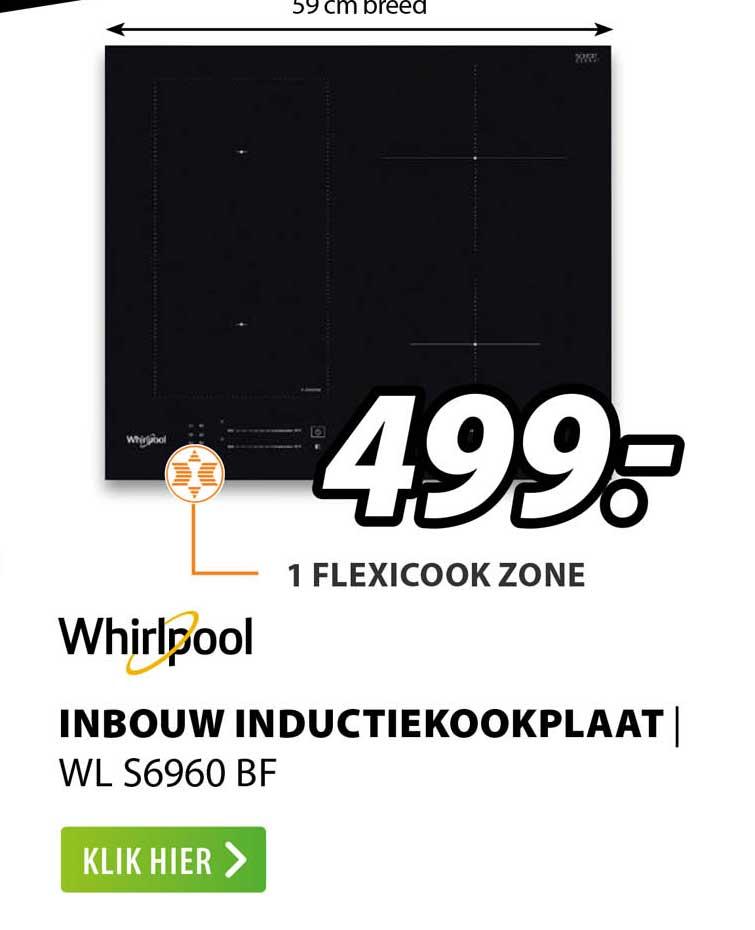 Expert Whirlpool Inbouw Inductiekookplaat | WL S6960 BF