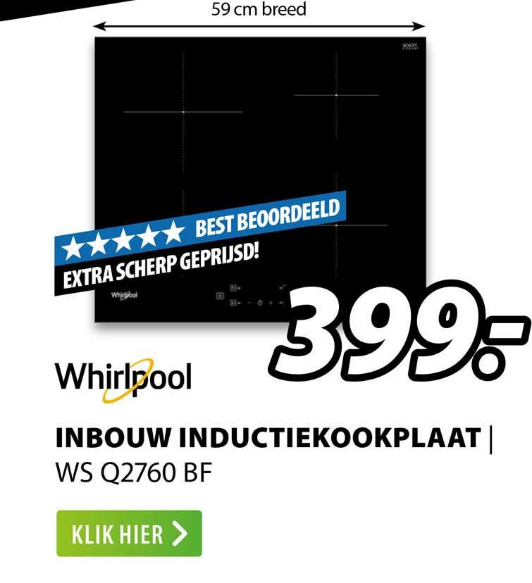 Expert Whirlpool Inbouw Inductiekookplaat | WS Q2760 BF
