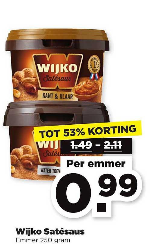 PLUS Wijko Satésaus Tot 53% Korting