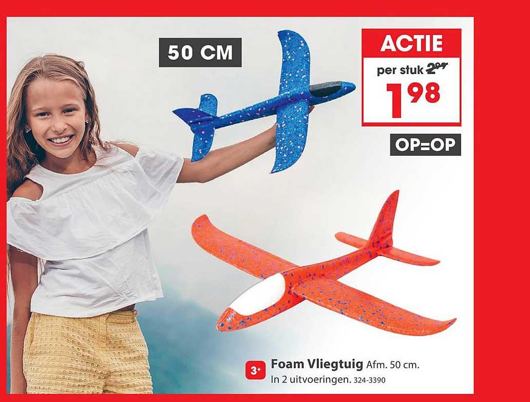 Top 1 Toys Foam Vliegtuig