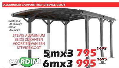 ITEK Aluminium Carport Met Stevige Goot