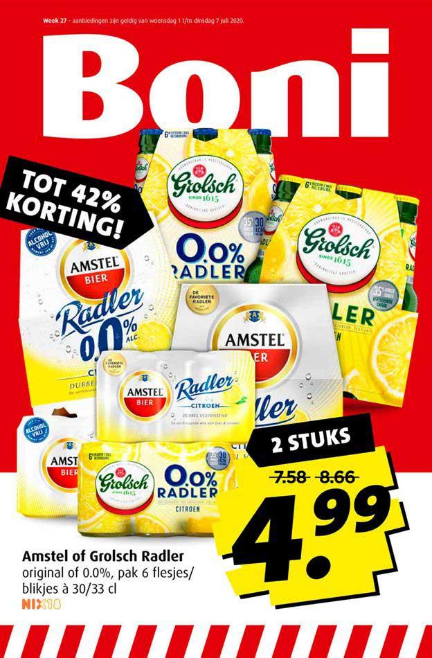 Boni Amstel Of Grolsch Radler