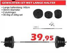 ITEK Gewichten Set Met Lange Halter