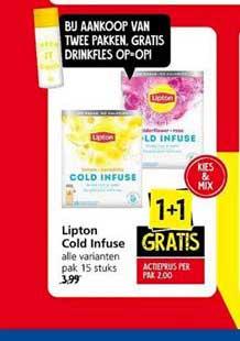 Jan Linders Lipton Cold Infuse 1+1 Gratis