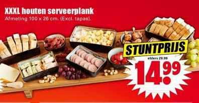Dirk XXXL Houten Serveerplank