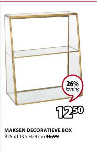Jysk Maksen Decoratieve Box 26% Korting