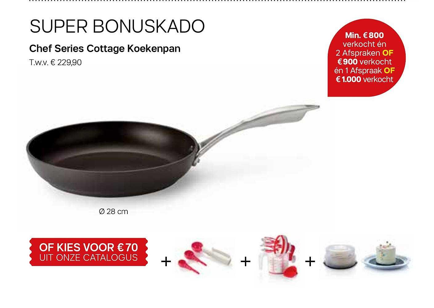 Tupperware Chef Series Cottage Koekenpan