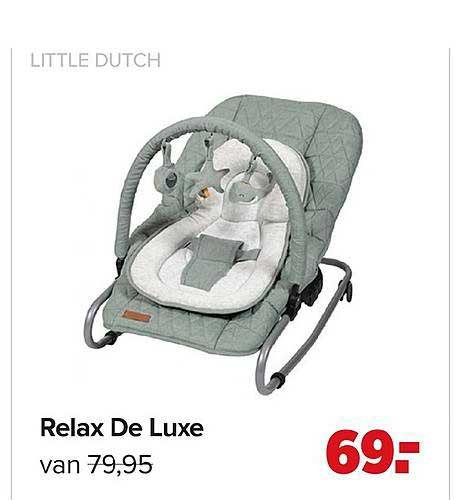 Baby-Dump Little Dutch Relax De Luxe Wipstoel