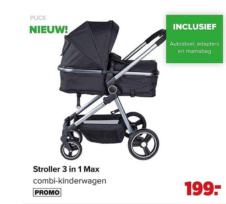 Baby-Dump Puck Stroller 3 In 1 Max Combi Kinderwagen