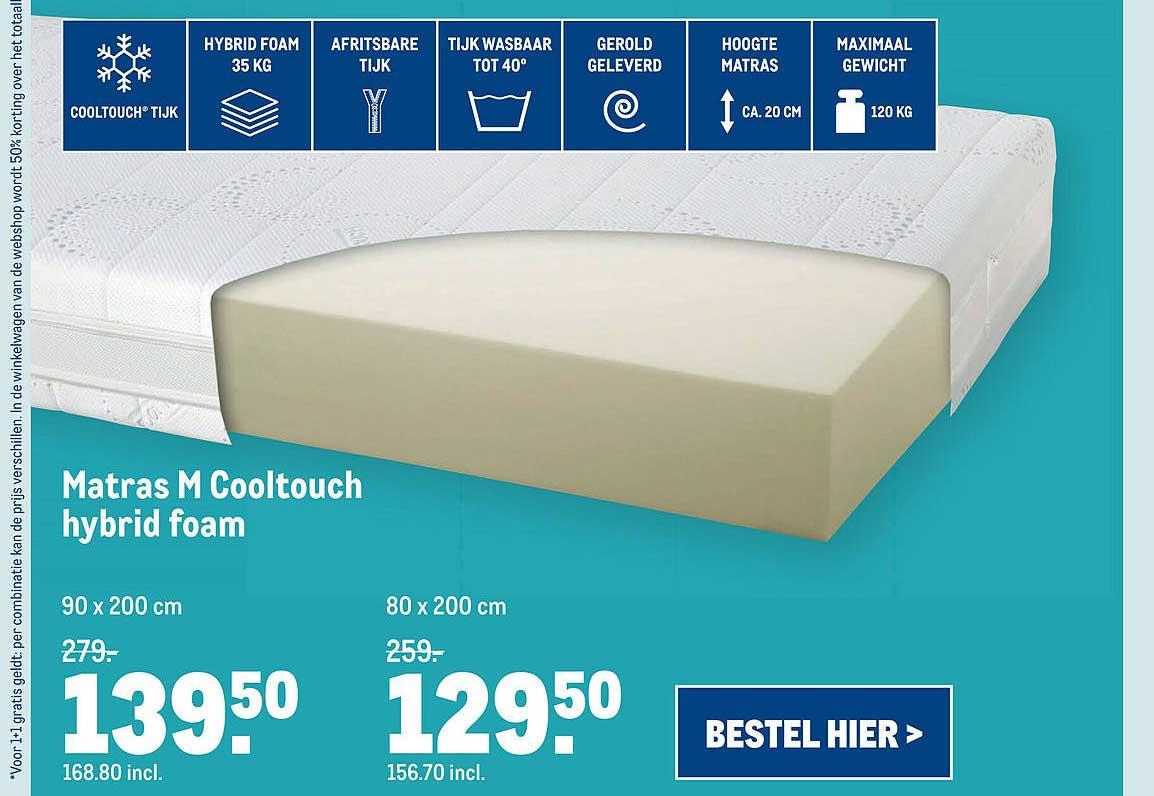 Makro Matras M Cooltouch Hybrid Foam