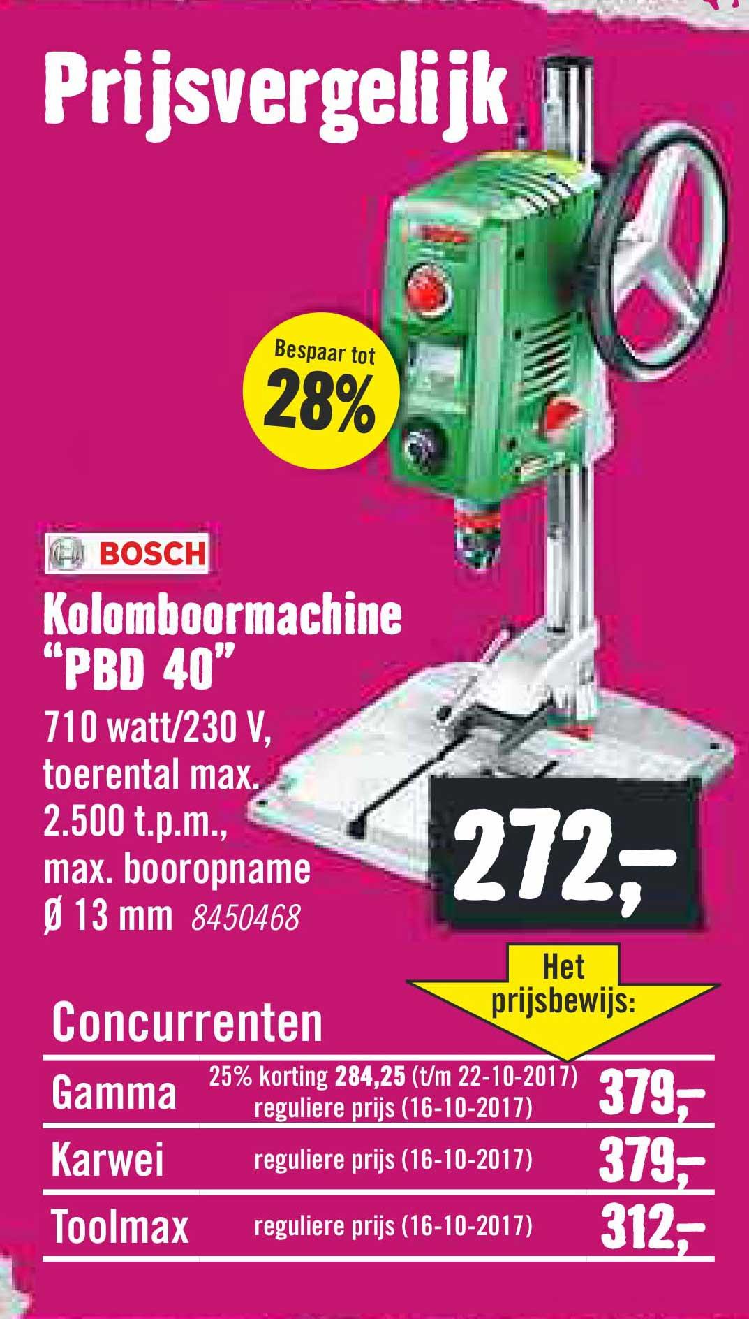 Hornbach Bosch Kolomboormachine PBD 40