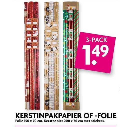 DekaMarkt Kerstinpakpapier Of Folie