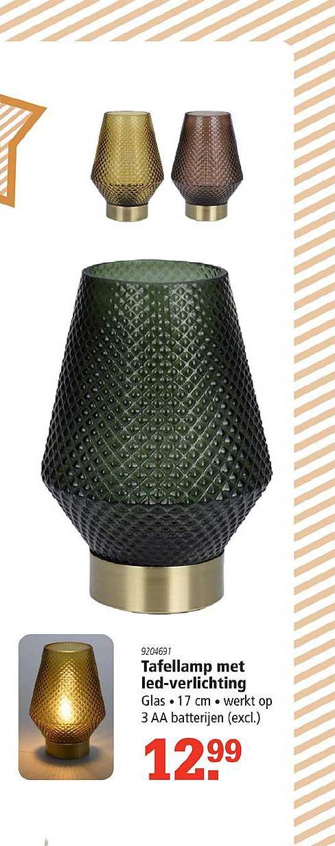 Marskramer Tafellamp Met Led Verlichting