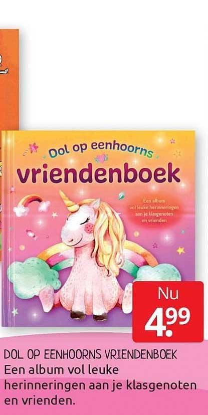 BoekenVoordeel Dol Op Eenhoorns Vriendenboek