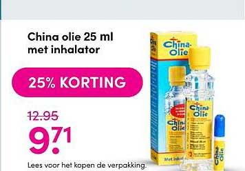 DA China Olie 25 Ml Met Inhalator 25% Korting