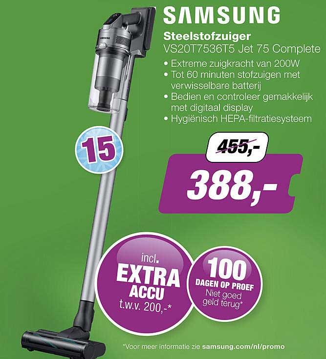 EP Samsung Steelstofzuiger VS20T7536T5 Jet 75 Complete