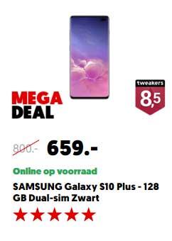 MediaMarkt Samsung Galaxy S10 Plus 128GB Dual Sim Zwart