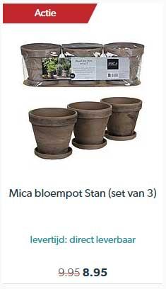 Wehkamp Mica Bloempot Stan (set Van 3)