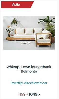 Wehkamp Whkmp's Own Loungebank Belmonte