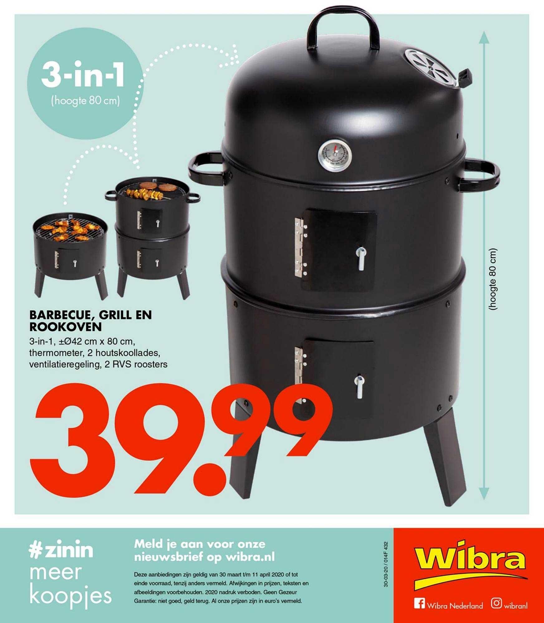 Wibra Barbecue, Grill En Rookoven