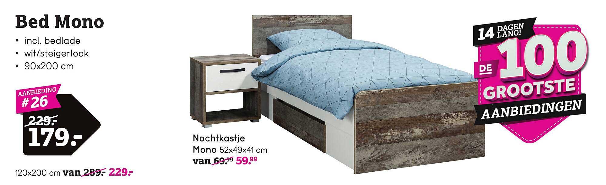 Leen Bakker Bed Mono Of Nachtkastje Mono