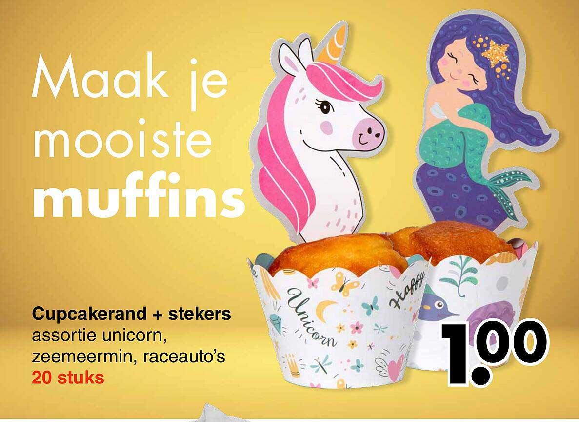 Wibra Cupcakerand + Stekers