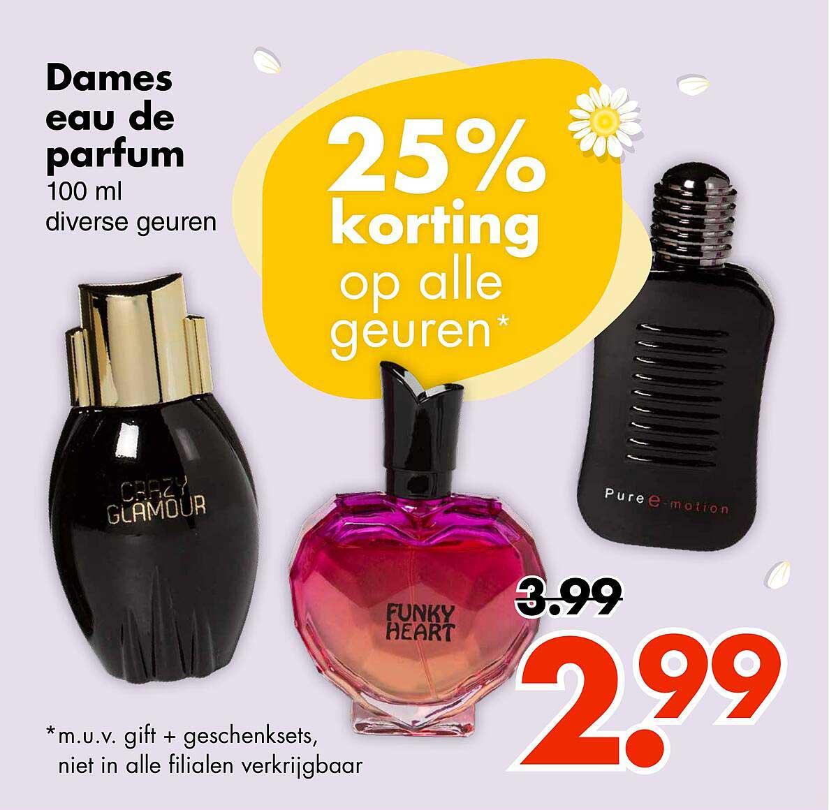 Wibra Dames Eau De Parfum 25% Korting