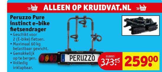 Kruidvat Peruzzo Pure Instinct E-Bike Fietsendrager