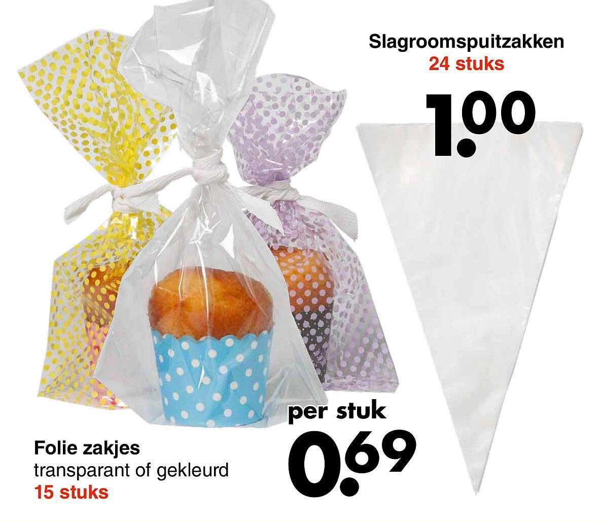 Wibra Slagroomspuitzakken Of Folie Zakjes Transparant Of Gekleurd