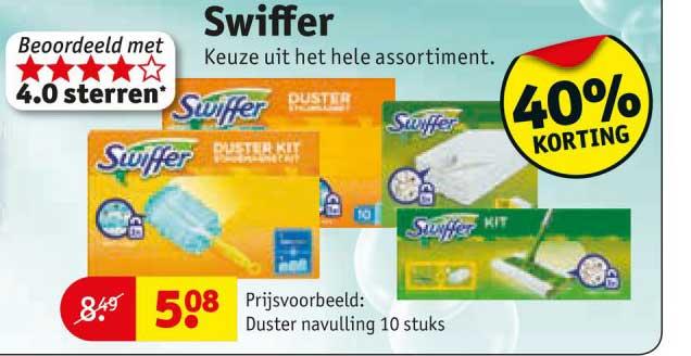Kruidvat Swiffer: 40% Korting