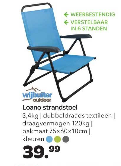 Vrijbuiter Loano Strandstoel