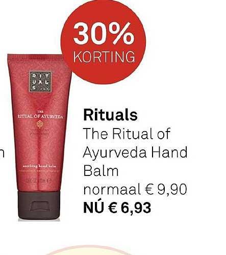 MOOI Parfumerie Rituals The Ritual Of Ayurveda Hand Balm 30% Korting