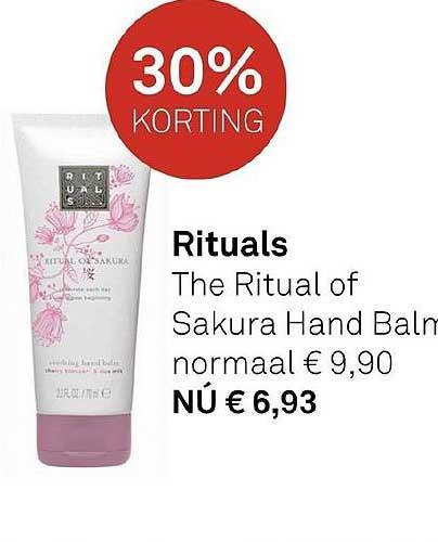 MOOI Parfumerie Rituals The Ritual Of Sakura Hand Balm 30% Korting