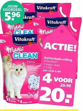 Ranzijn Tuin & Dier Vitakraft Magic Clean Kattenbakvulling