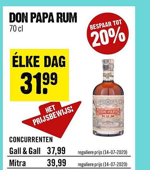 Dirck III Don Papa Rum Tot 20% Korting