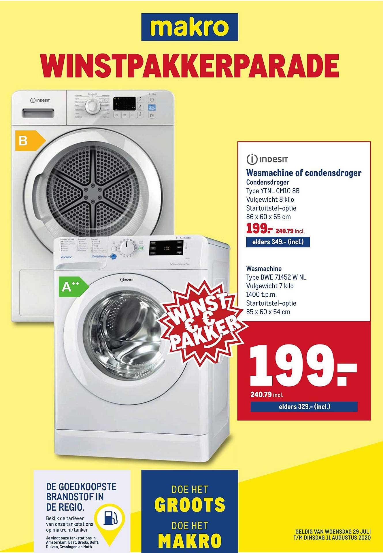 Makro Indesit Wasmachine Of Condensdroger