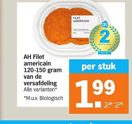 Albert Heijn AH Filet Americain 120-150 Gram Van De Versafdeling
