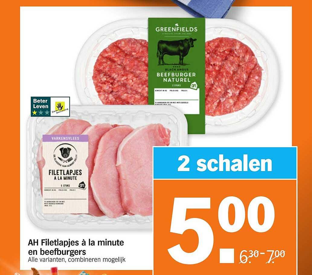 Albert Heijn AH Filetlapjes à La Minute En Beefburgers