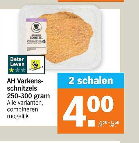 Albert Heijn AH Varkenschnitzels 250-300 Gram