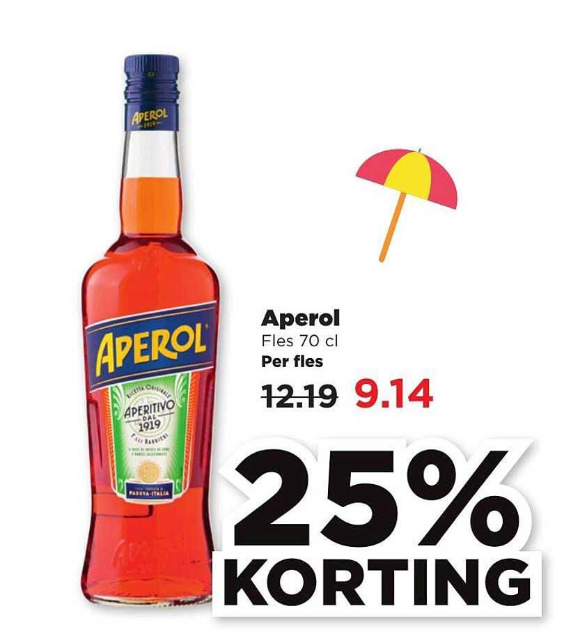 PLUS Aperol 25% Korting