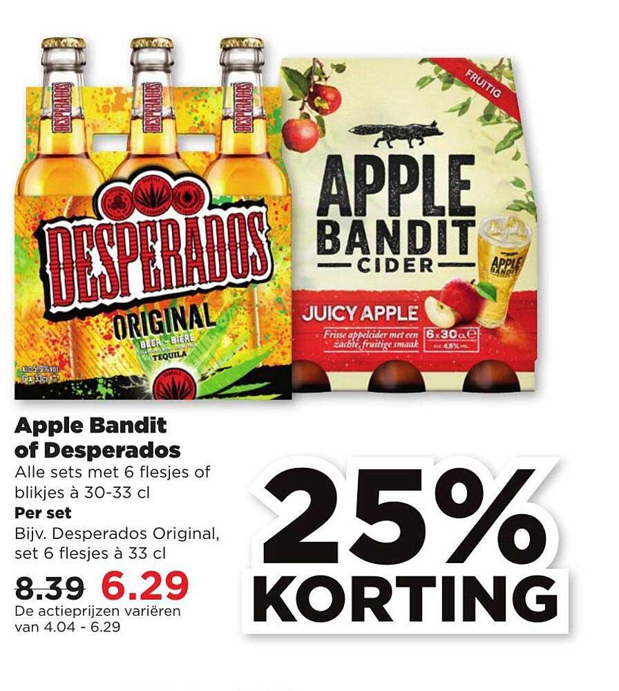 PLUS Apple Bandit Of Desperados 25% Korting