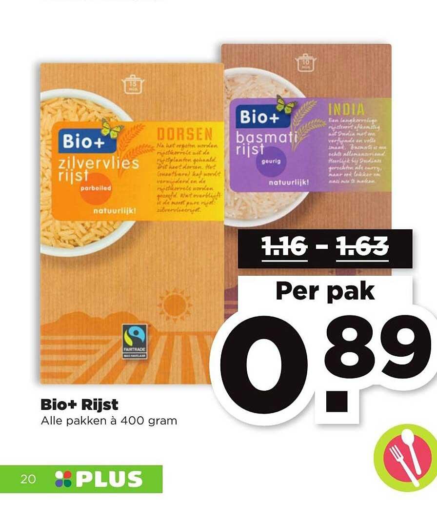PLUS Bio+ Rijst