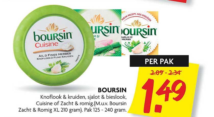 DekaMarkt Boursin Knoflook & Kruiden, Sjalot & Bieslook, Cuisine Of Zacht & Romig