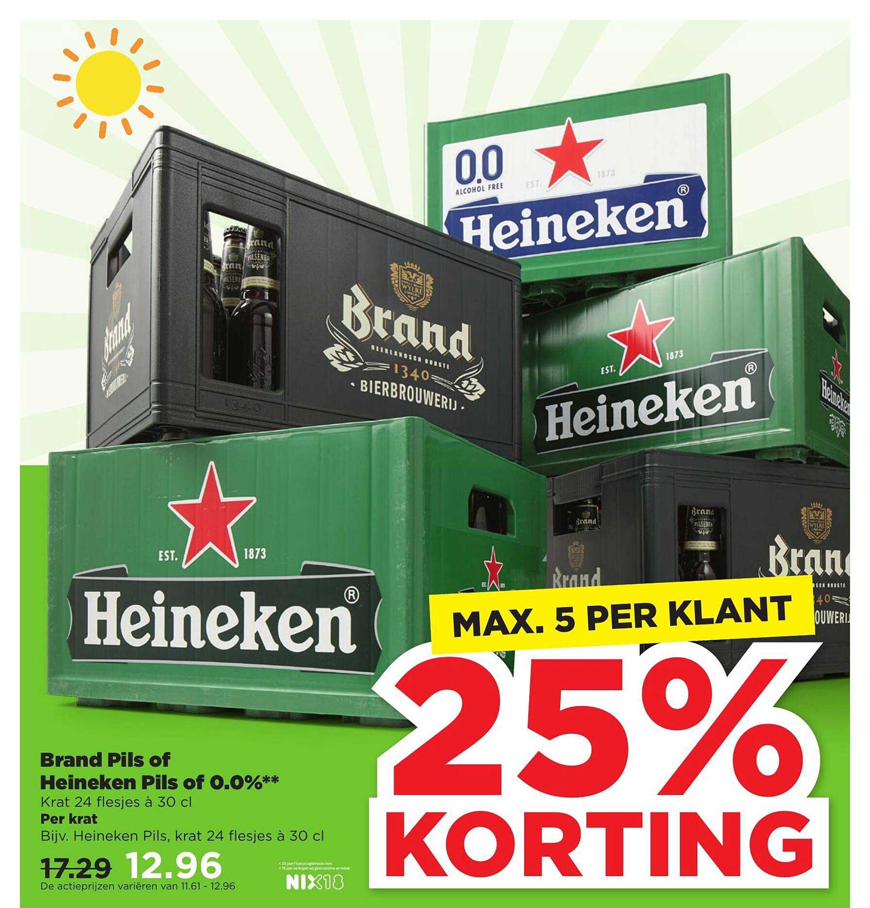 PLUS Brand Pils Of Heineken Pils Of 0.0% 25% Korting