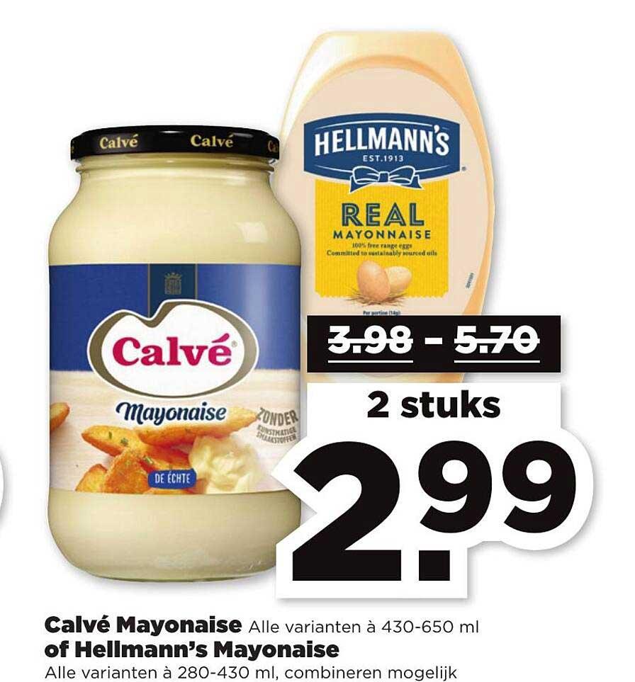 PLUS Calvè Mayonaise Of Hellmann's Mayonaise